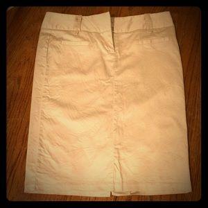Must have for summer Khaki pencil skirt w/ slit!